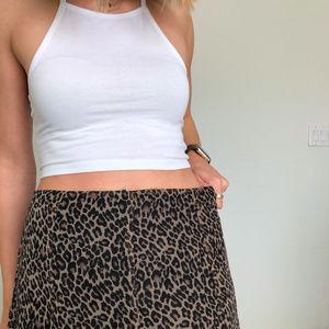 Shape FX Skirts - Shape FX Cheetah Print Handkerchief Skirt